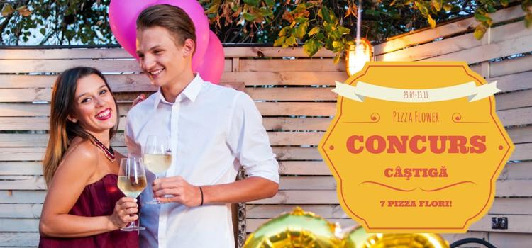 Câştigă 7 pizza flori şi organizează cel mai tare party!